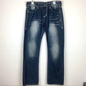 Archaic Premium Denim Jeans Embroidered Pockets